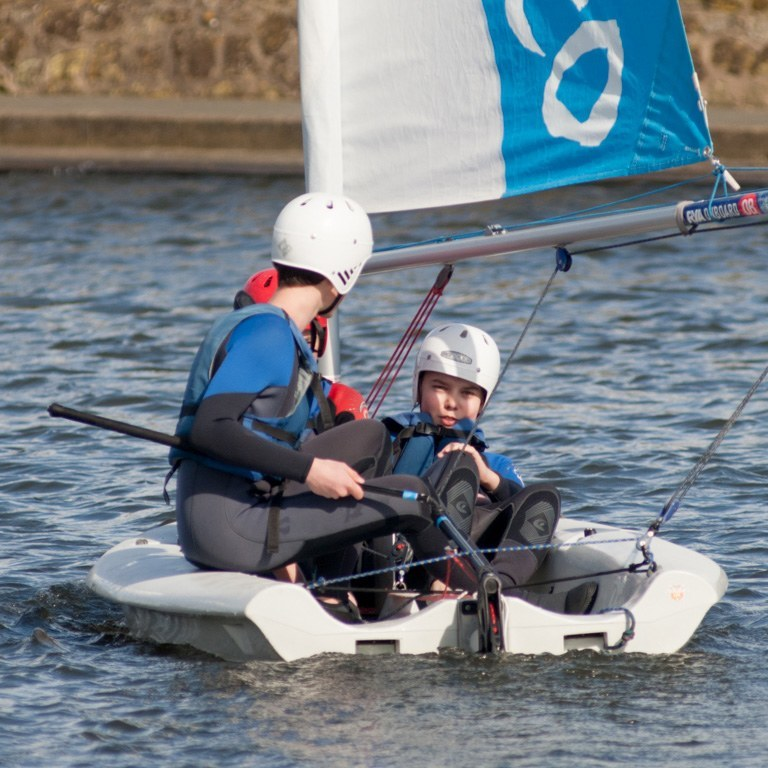 Dinghy sailing on the lagoon