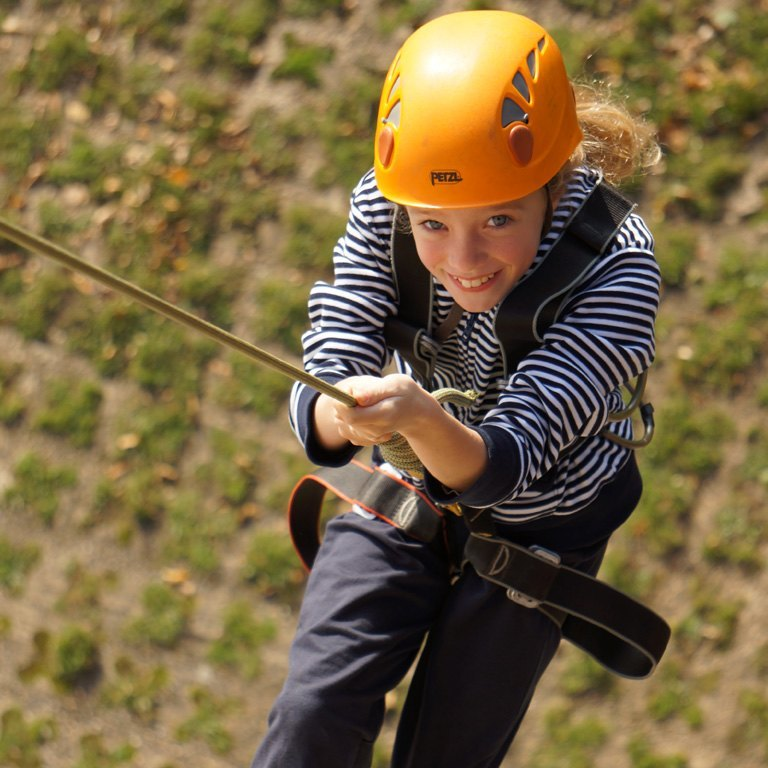 A child abseiling