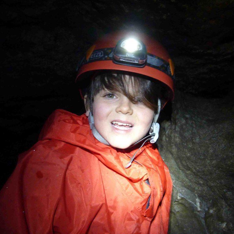 A child caving