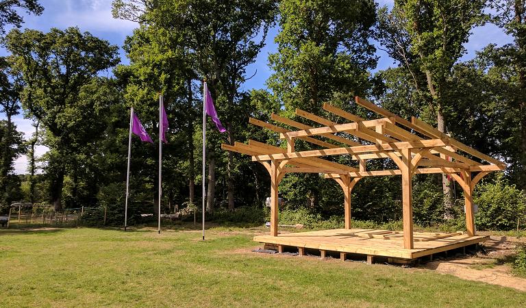 bushy wood glade stage