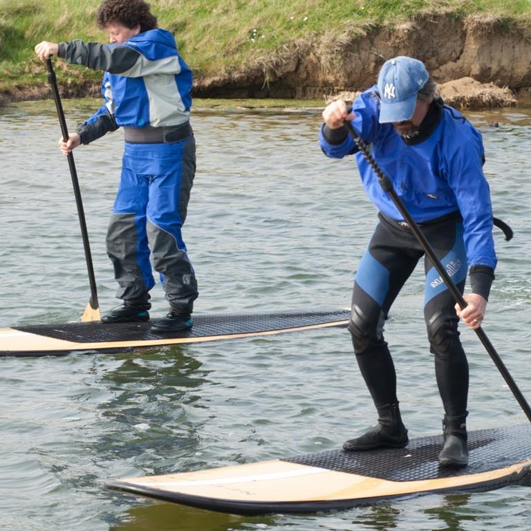Group paddleboarding