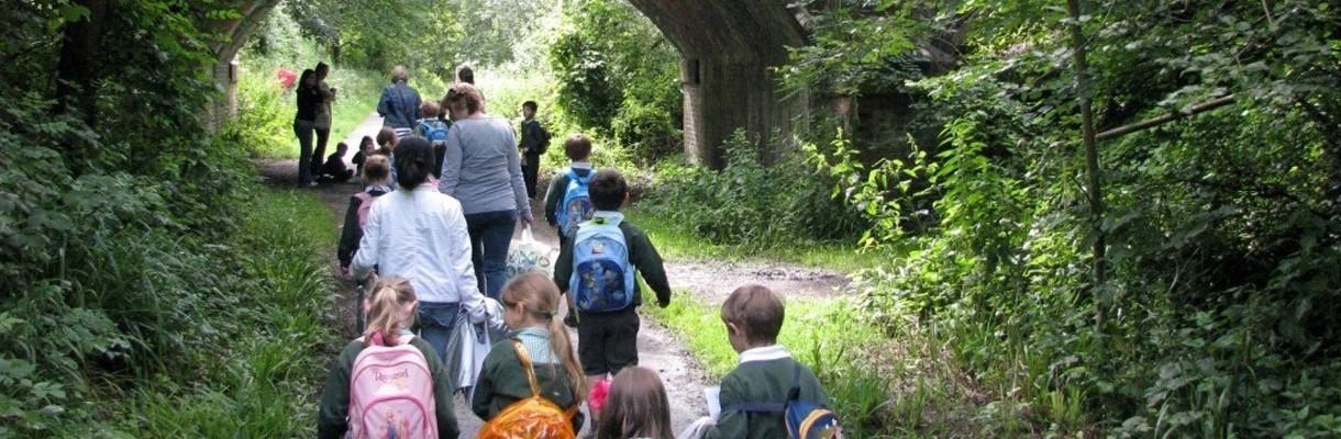 Children on a nature walk