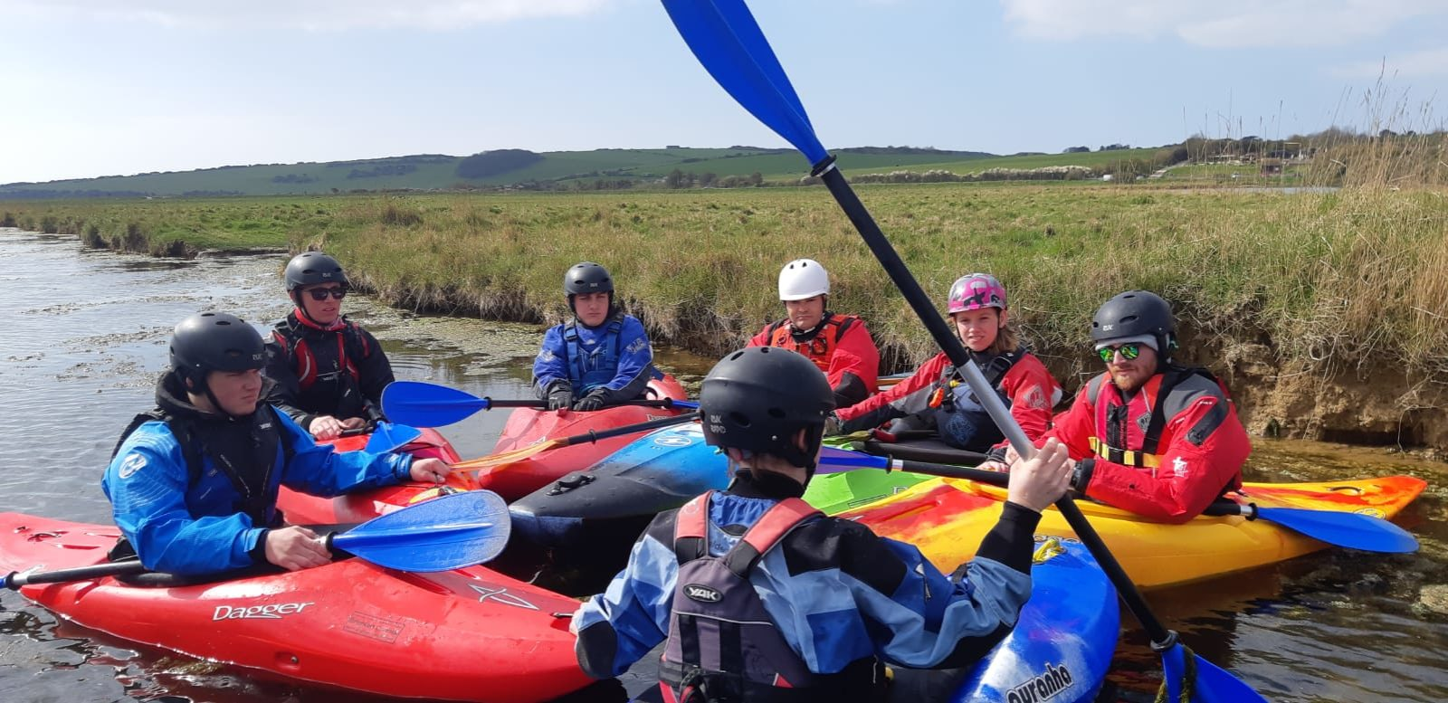 kayaker on meander
